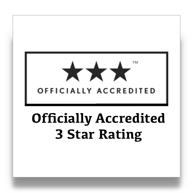 Officially Accredited 3 Star Rating